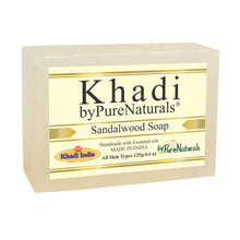 Load image into Gallery viewer, Khadi Sandalwood Soap byPureNaturals