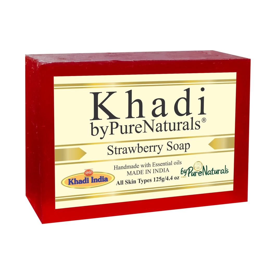 Khadi Strawberry Soap byPureNaturals