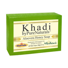 Load image into Gallery viewer, Khadi Aloevera Honey Soap byPureNaturals