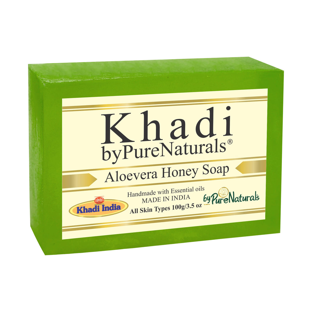 Khadi Aloevera Honey Soap byPureNaturals
