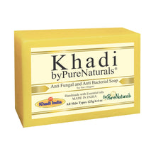 Load image into Gallery viewer, Khadi Anti Fungal and Anti Bacterial Soap byPureNaturals