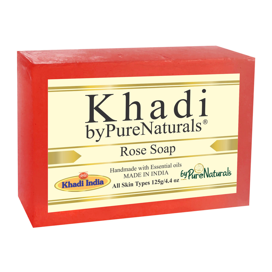 Khadi Rose Soap byPureNaturals