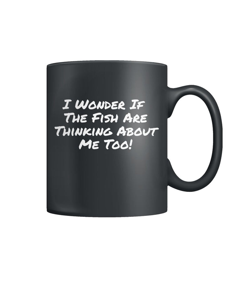 Thinking About Fishing Color Coffee Mug