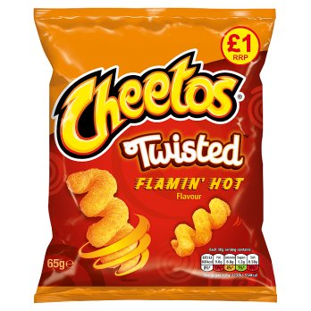 Cheetos Twisted Flamin´ Hot Flavour 65g
