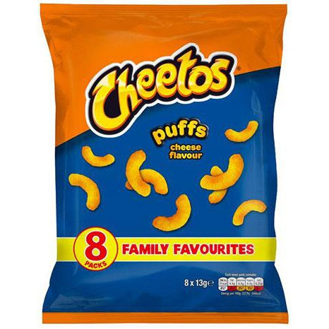 Cheetos Puffs Cheese Flavour 8x13g-Cheetos-SNACK SHOP AUSTRIA