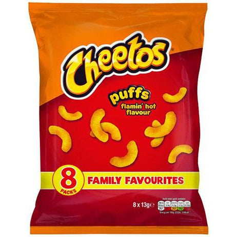 Cheetos Puffs Flamin´ hot Flavour 8x13g-Cheetos-SNACK SHOP AUSTRIA
