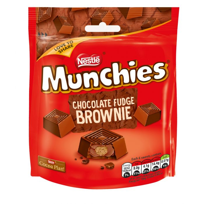 Munchies Chocolate Fudge Brownie Pouch 101g-Nestlé-SNACK SHOP AUSTRIA