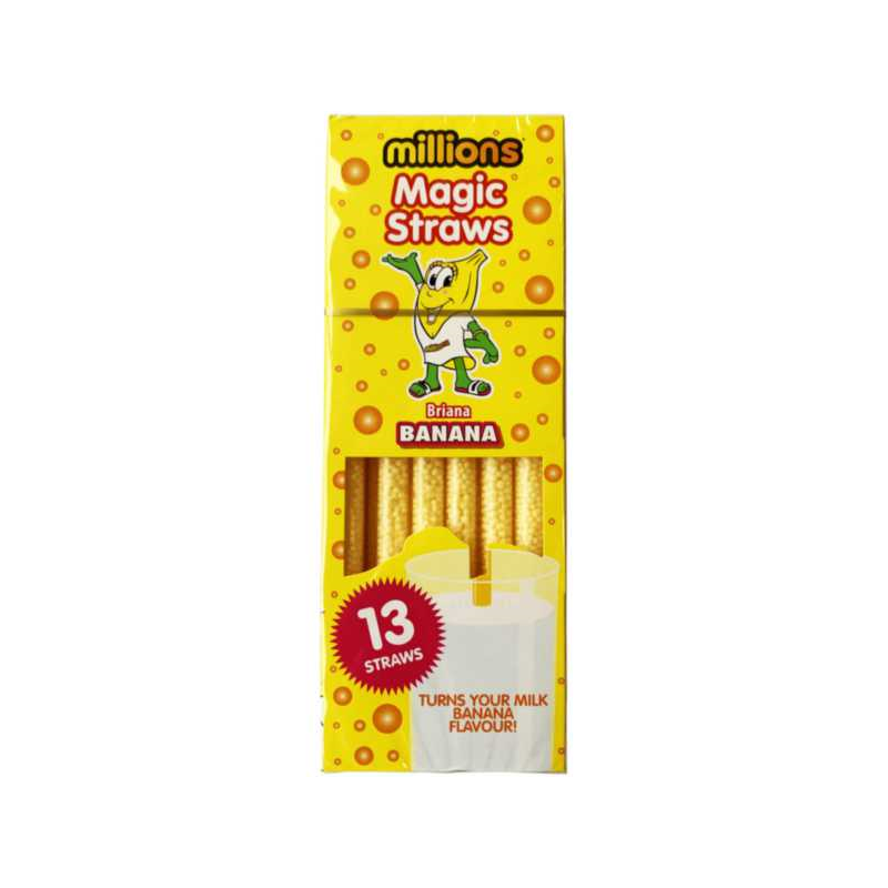 Millions Magic Straws - Banana 13Stk-Golden Casket (Greenock) Ltd.-SNACK SHOP AUSTRIA