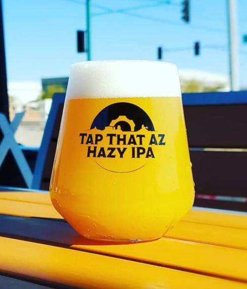 Tap That AZ Hazy IPA on a table
