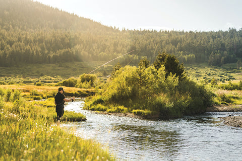 FLY-FISHING ON THE WEST FORK OF THE CARSON RIVER IN HOPE VALLEY, PHOTO BY BRIAN WALKER
