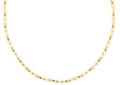 Freshwater Pearl and 9ct Gold Necklace