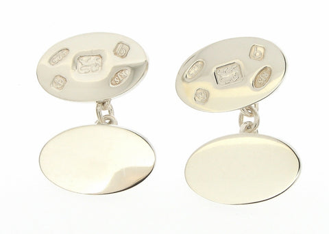 Silver Display Hallmark Cufflinks