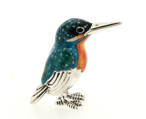 Silver and Enamel Kingfisher