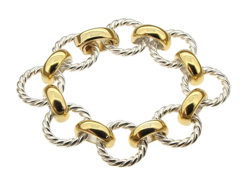 Silver and Silver Gilt Bracelet