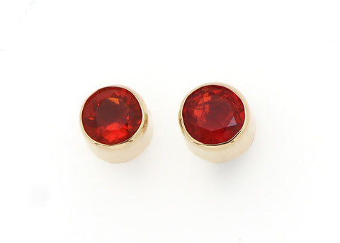 Fire Opal Stud Earrings