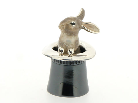 Silver and Enamel Rabbit