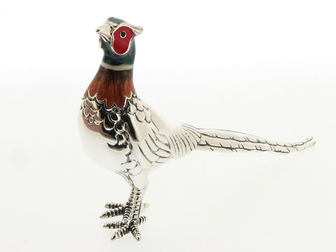 Silver and Enamel Pheasant