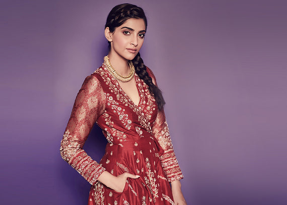 SONAM KAPOOR WEARS SUE MUE FOR THE PROMOTIONS OF THE ZOYA FACTOR