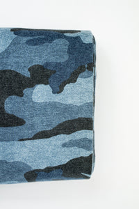 French Terry Camouflage blau angeraut