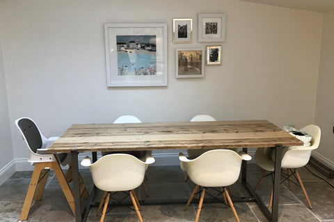 One of our reclaimed tables in customer's home