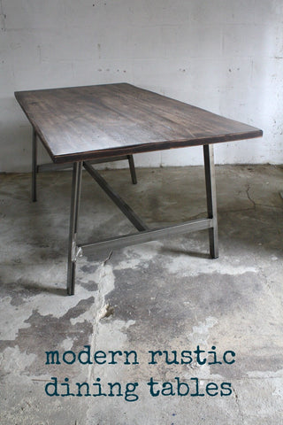 Salvation's range of modern rustic dining tables