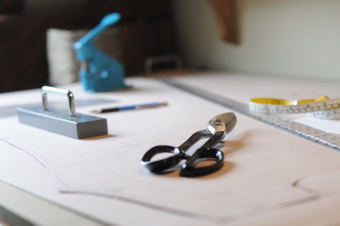 tools of the trade for pattern-making selvedge denim jeans