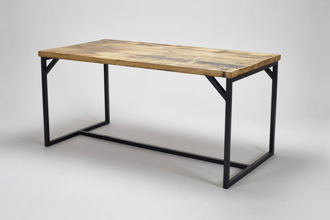 Our deben table in reclaimed oak wood and steel frame