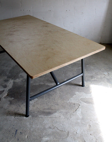 Birch Plywood Dining Table: The Hoo