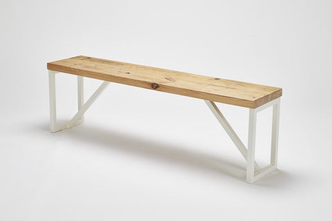 The reclaimed wood in our Kanteen bench: carriage pine, has natural warmth and character