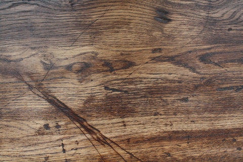 Sympathetically aged in our workshop, before staining and sanding to give our oak the look of reclaimed wood
