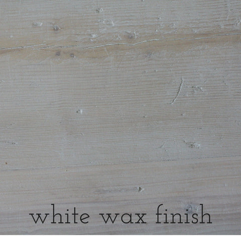 reclaimed wood with white wax finish