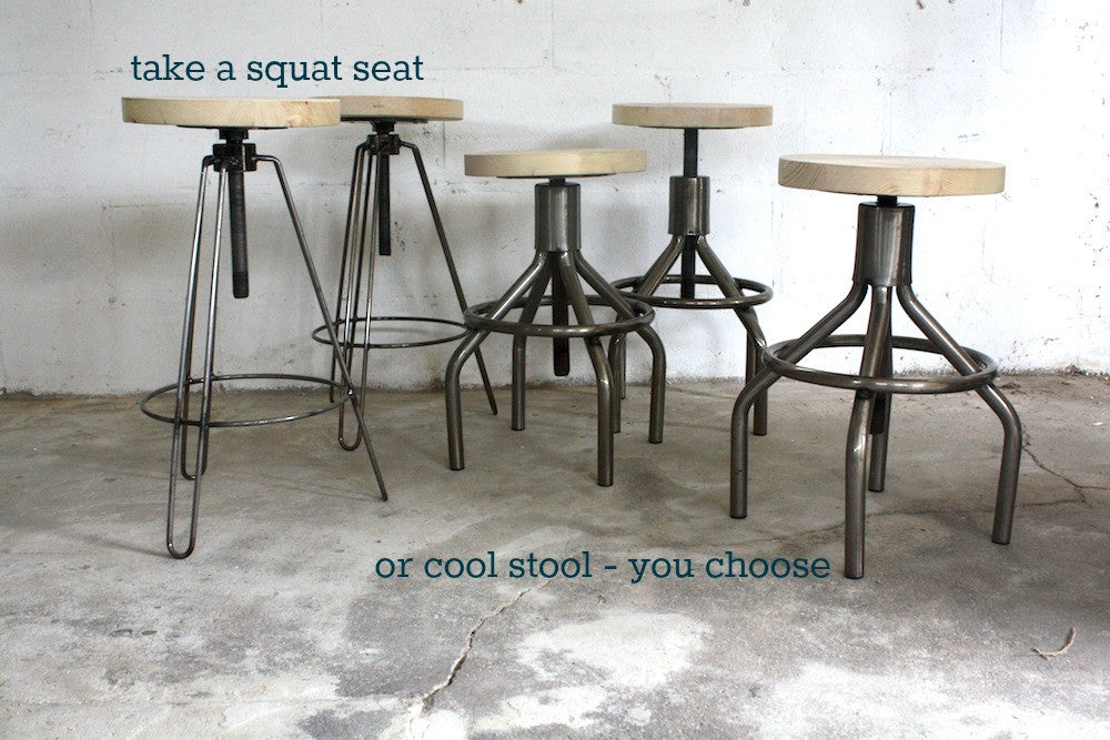 Scandinavian style stools and benches in reclaimed wood