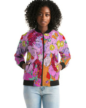 Load image into Gallery viewer, Flower to the people Women's Bomber Jacket