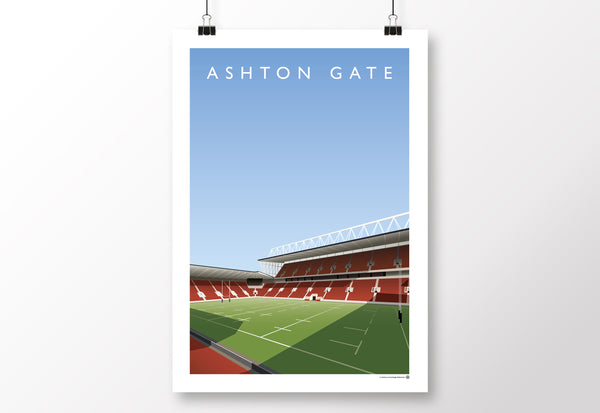 Ashton Gate Bristol Bears Poster