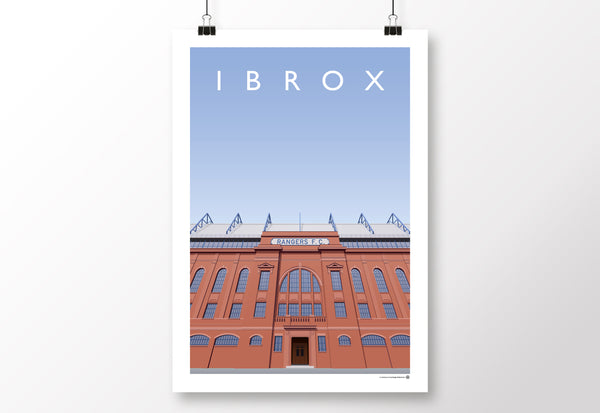 Ibrox Main Stand Entrance Poster
