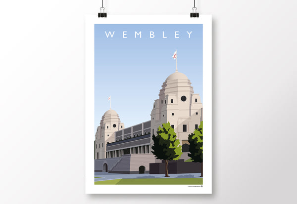 Wembley Twin Towers Poster