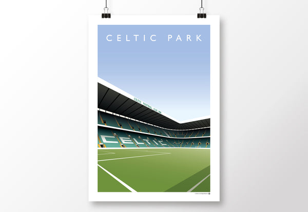 Celtic Park North Stand Poster