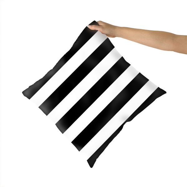 Black and White Bar Scarf Cushion