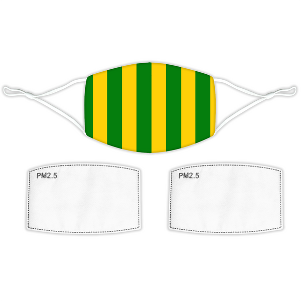 Norwich City Face Mask - Home Bar Stripes