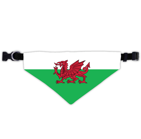 Wales Dog Scarf With Collar
