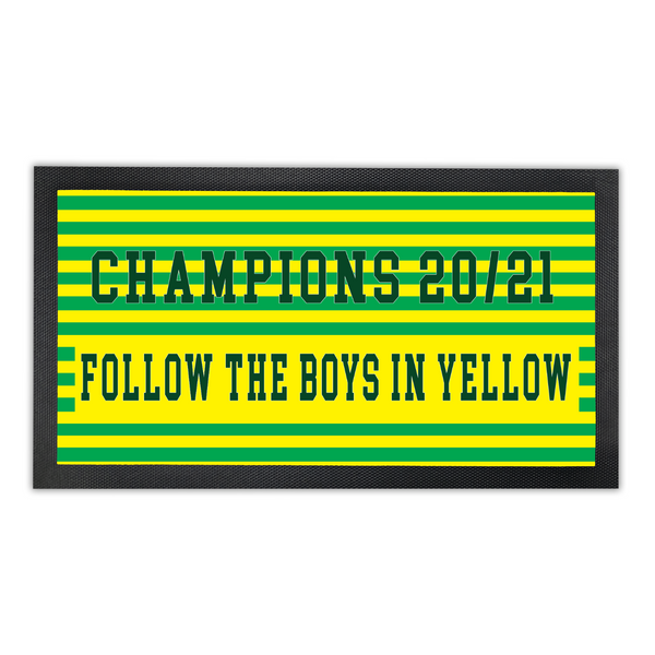 Norwich City Bar Runner - 'Follow the boys in Yellow'
