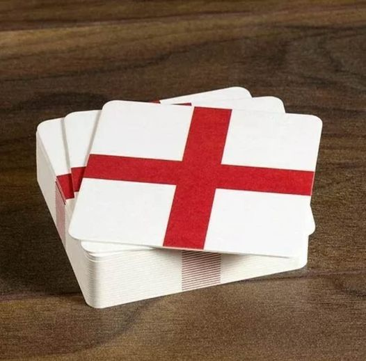 England Beer Mats - St Georges Cross - Pack of 10