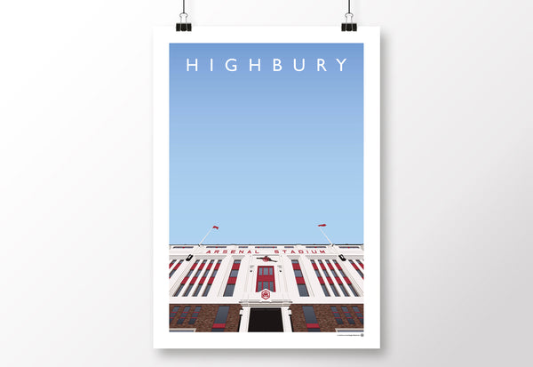 Highbury East Stand Entrance Poster