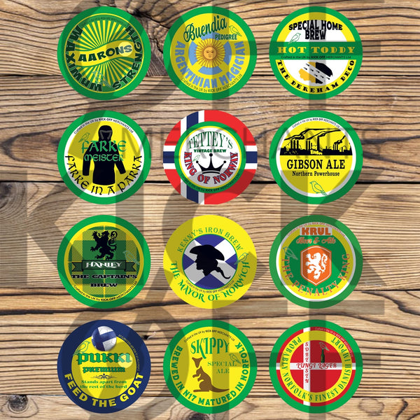 Norwich City Beer Mats - 2020/21 Champions XI