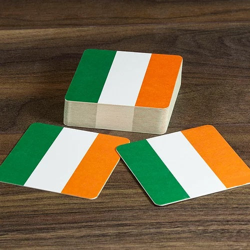 Ireland Beer Mats - Irish Tricolour - Pack of 10