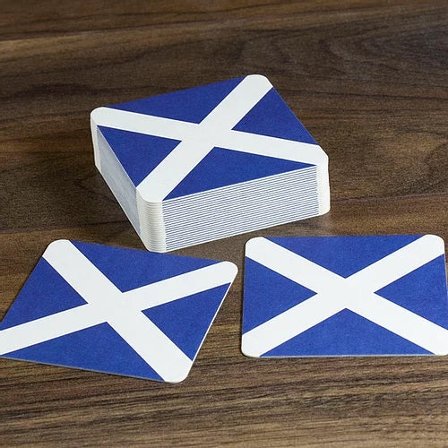Scotland Beer Mats - Saltire / St Andrews Cross - Pack of 10