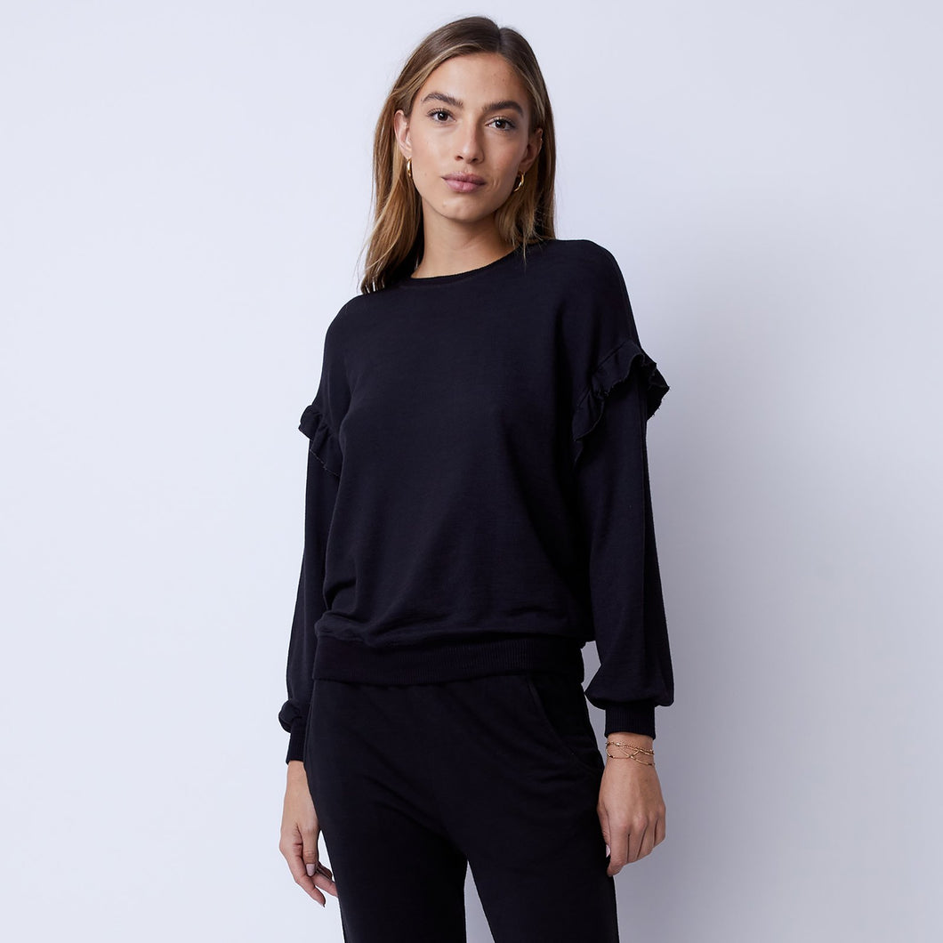 Supersoft Ruffle Sweatshirt | MONROW