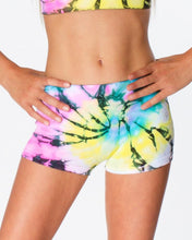 Load image into Gallery viewer, Swirl Tie Dye Boy Shorts Girls One Size 7-14 | Malibu Sugar