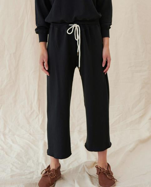 The Wide Leg Cropped Sweatpant | THE GREAT