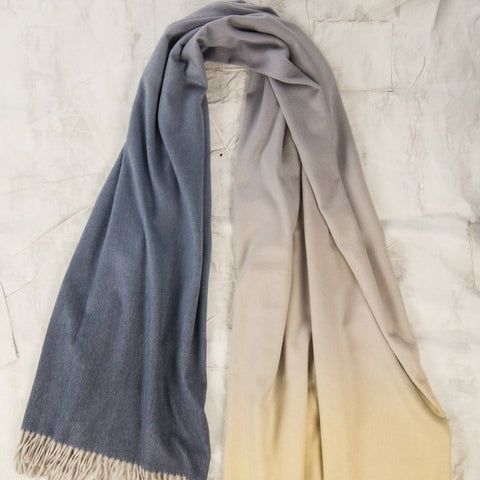 OMBRE Classic Cashmere Scarf Begg & Co